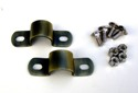 Universal Rear Fender Mounting Brackets. Ant Brass Finish
