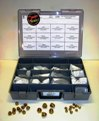 110 piece Solid Brass Acorn Nut Assortment Tray