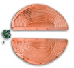 Copper Plated Ribbed Inserts for HD Oval Floorboards, w/Rivets