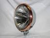 "Chrome 5-3/4"" Bottom mount Headlight, Copper plated Trim Ring"