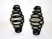 "Barrel Type 5"" Solo Seat Springs, Black finish, Pair"